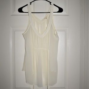 Forever 21 Cream/Ivory Tank Blouse Size Large